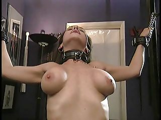 Slave is gag mouthed by her master