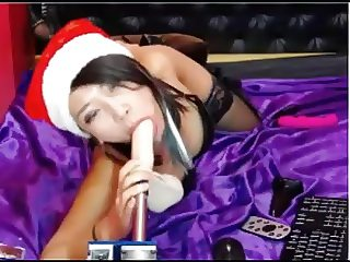 sexy asian face fucked by machine after anal