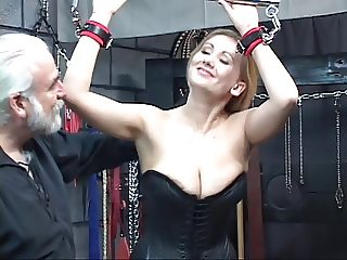 Sexy blonde with a great body has some kinky fun in the dungeon