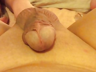 Mrs T prostate milking with glass dildo please comment
