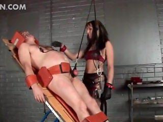 Misstress tortures her slave