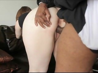 Chunky pale beauty assfucked by a black dude