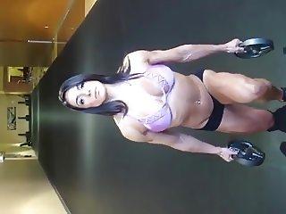 muscle fitness bikini woman nice tits