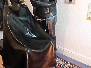 Behind Southport curtains two rubber friends do what they enjoy most! mmmm