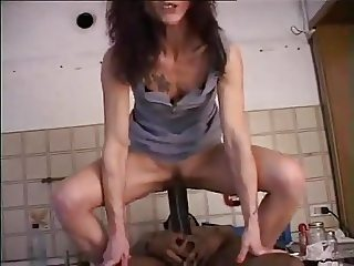 Italian bitch fucked hard and creampied