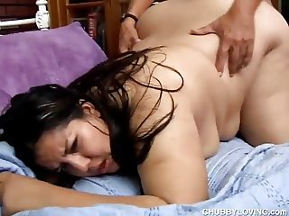 Super cute chubby latina enjoys a hard fucking and a facial