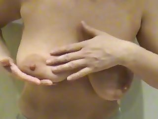 Busty Mom Playing with Saggy Udders