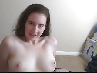 Pale brunette POV with her man