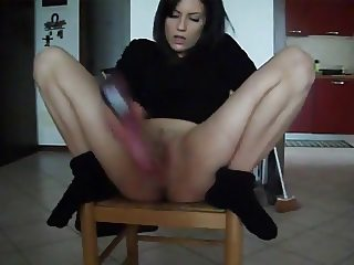 Wife Squirts With A Huge Vibrator