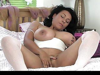 Donna Ambrose AKA Danica Collins - Bed natural wank