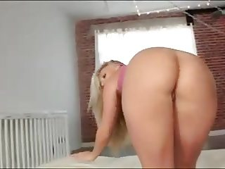 blonde yoga babe takes a thick bbc