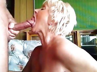 Sexy granny loves cum