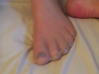 Nude Pantyhose nylon footjob