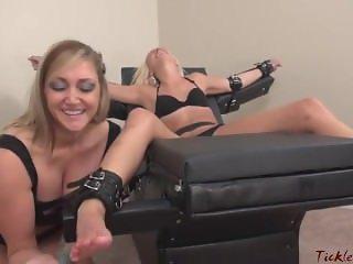 Tickle Abuse f/f blonde girl tickling