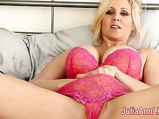 Milf Julia Ann Tries on Lingerie & Masturbates!
