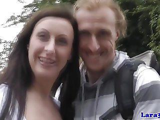Classy english mature drinking cum