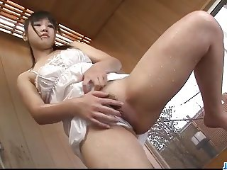 Warm shower masturbation solo with Koyuki Ono