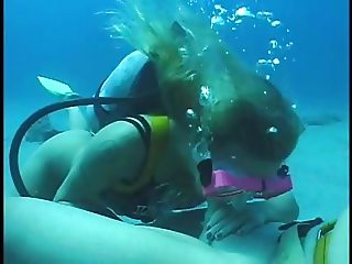 Scuba Blonde Blows and Bangs