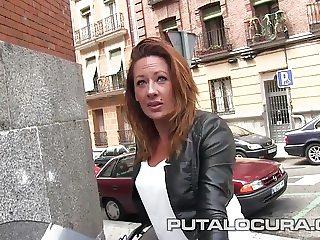 PUTA LOCURA Hot Milf rides bikes and cocks