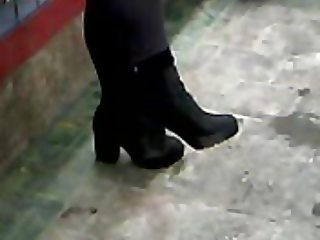 Asian In Ankle Boots