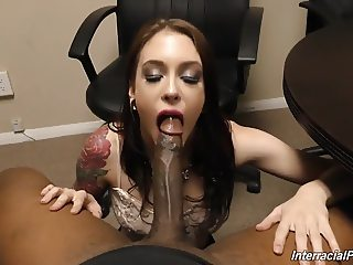 Young daughter gets her ass destroyed by monster black cock