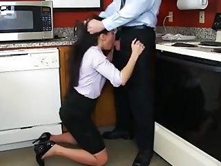 Blackmail Boss Blowjob