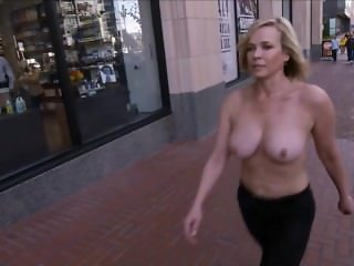 Chelsea Handler Walking In Public Topless