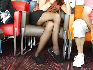 legs stockings voyeur hidden cam girl upskirt