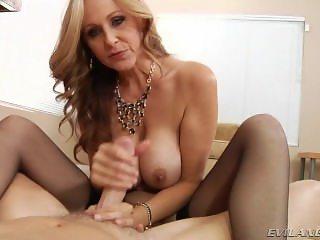 Stunning Blonde Milf Pov Handjob