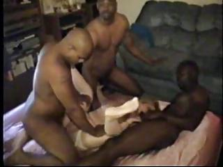 cuckold's wives fuck six black men