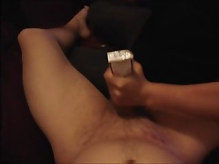 Wife gives me a handjob with a cigarette pack