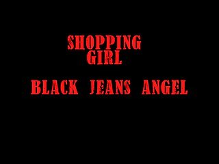 shopping girl - black jeans angel