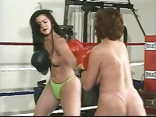 Big Boob Topless Boxing