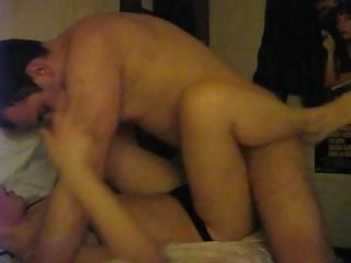 Young couple fucks in a dorm room