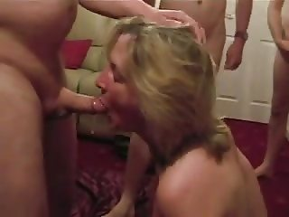 Cumslut wife sucks a lot of men