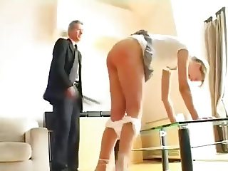 Teenage spanked by mr Old