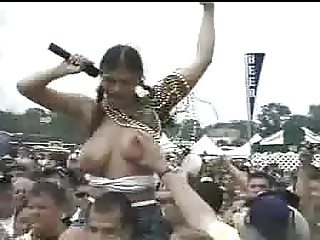 tits groped at festival