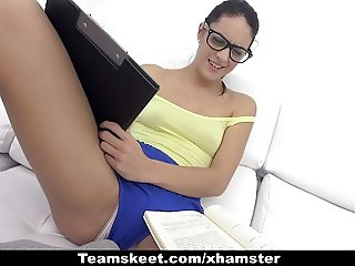 CFNMTeens - Sexy Latina Fucked While Studying