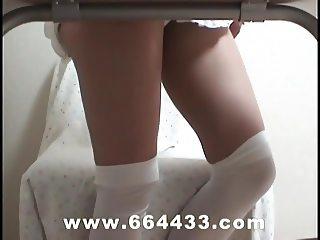 Waitress's panties and leg
