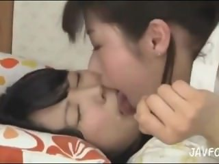 Asian Girls Kiss Face Lick