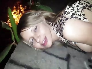 Fucking this slut outside
