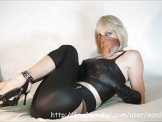 Cat Eyed Sandra Jayde Fetish Tease Tits Tights Spandex Feet