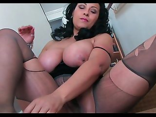 Donna Ambrose AKA Danica Collins - Stairs pantyhose