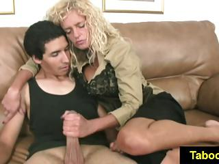 FetishNetwork Farrah jerks off houseboy