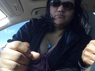 Mature latina gives hand job