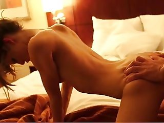 Cute girl gets fucked in Hotelroom by a HUGE cock