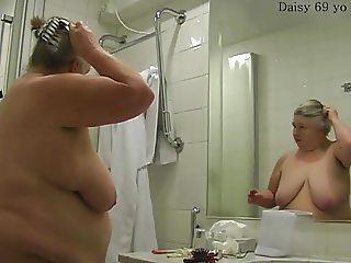 Grandma in the bathroom