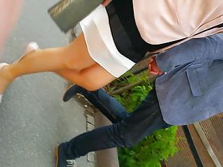 amazing sexy blond wife pantyhose legs !