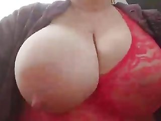 Huge tits out in public