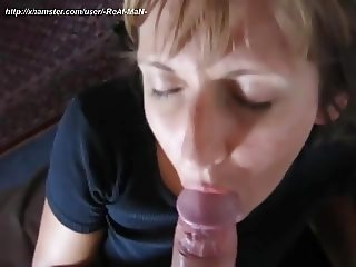 Penetrating my wife with cucumber and cock